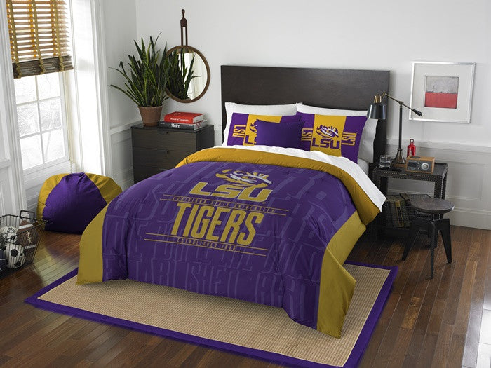 Louisiana State Tigers Modern Take Full Comforter Set