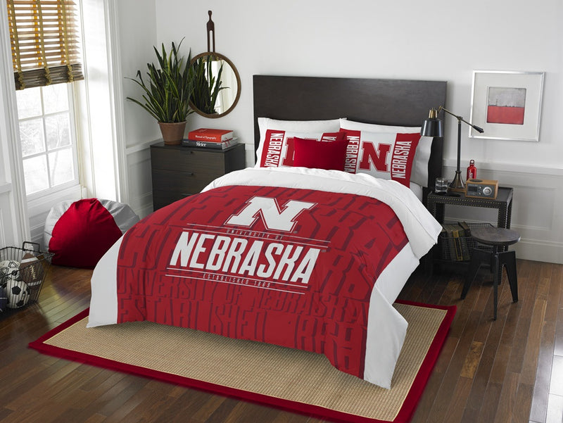 Nebraska Huskers Modern Take Full Comforter Set