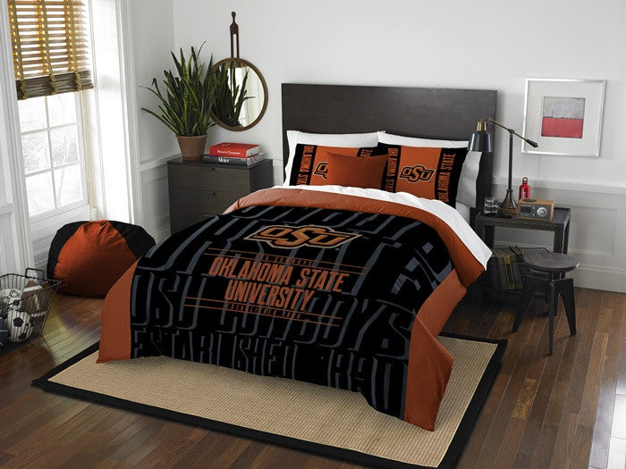 Oklahoma State Cowboys Modern Take Full Comforter Set