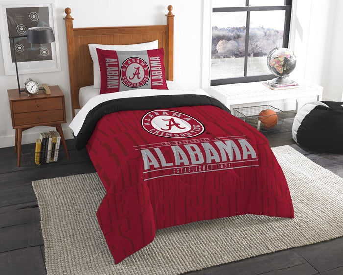 Alabama Crimson Tide Modern Take Twin Comforter Set - SportsFansPlus.com