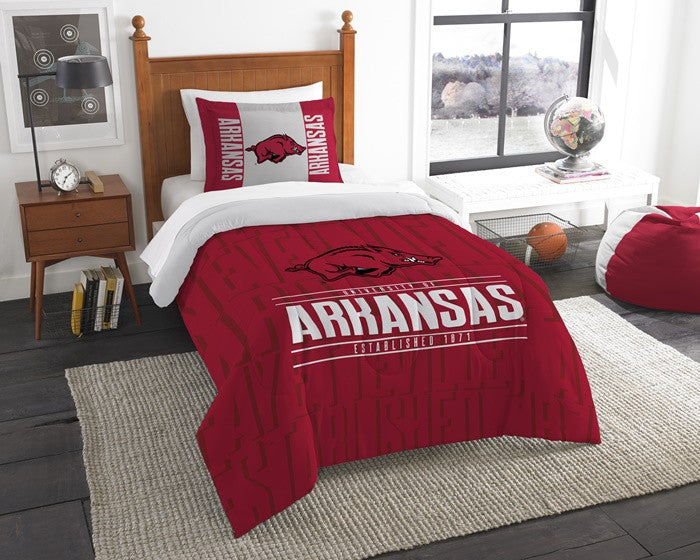Arkansas Razorbacks Modern Take Twin Comforter Set