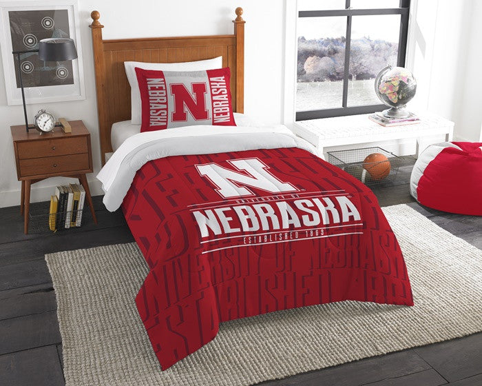 Nebraska Huskers Modern Take Twin Comforter Set