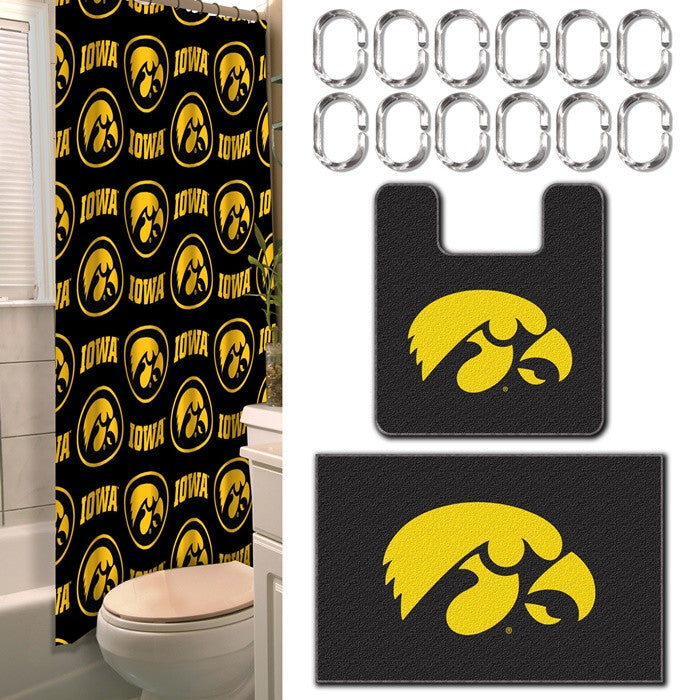Iowa Hawkeyes 15-Piece Bath Set