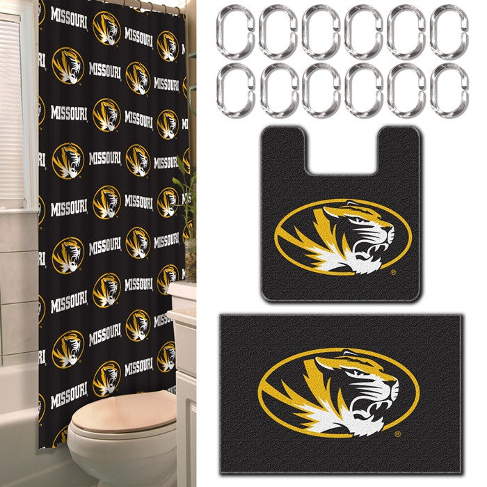 Missouri Tigers 15-Piece Bath Set