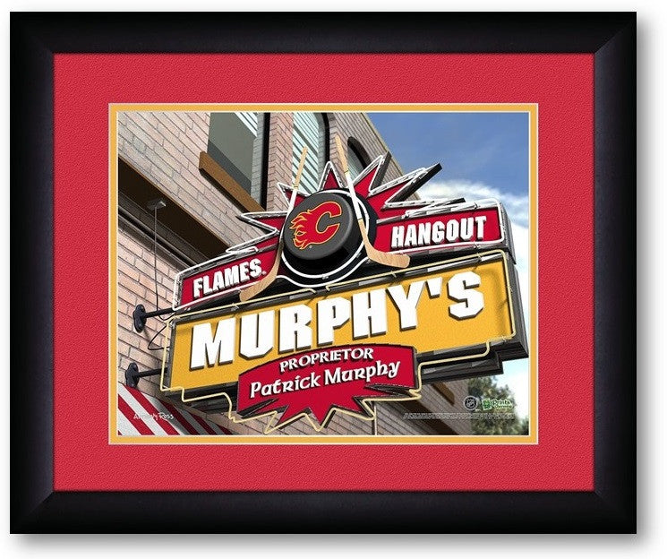 Calgary Flames NHL Personalized Pub Print - Sports Fans Plus  - 2