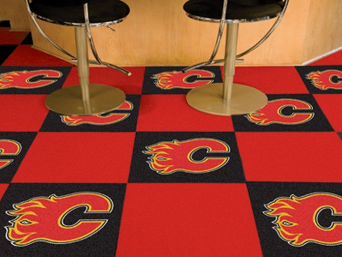 Calgary Flames NHL Carpet Tiles - Sports Fans Plus  - 1