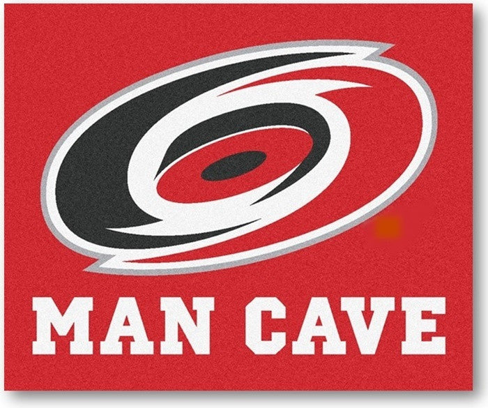 Carolina Hurricanes NHL Man Cave Tailgate Rug - Sports Fans Plus