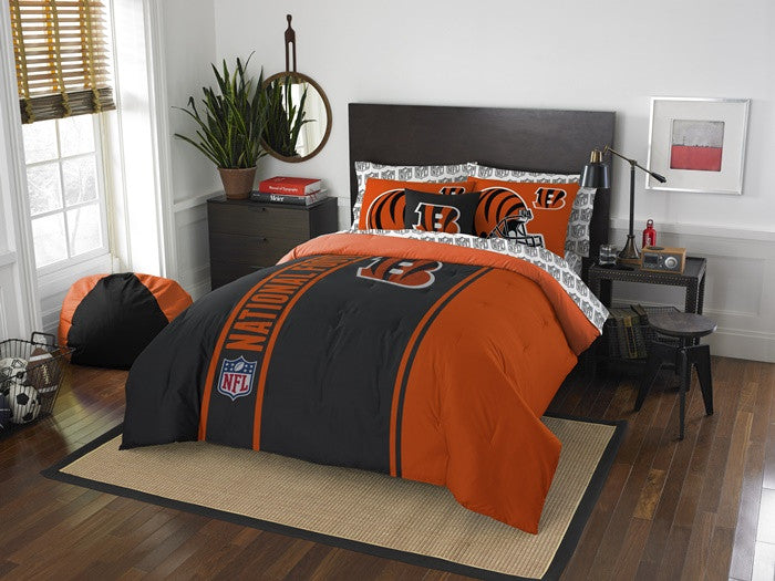 Cincinnati Bengals NFL Full Bed-in-a-Bag with Sheets