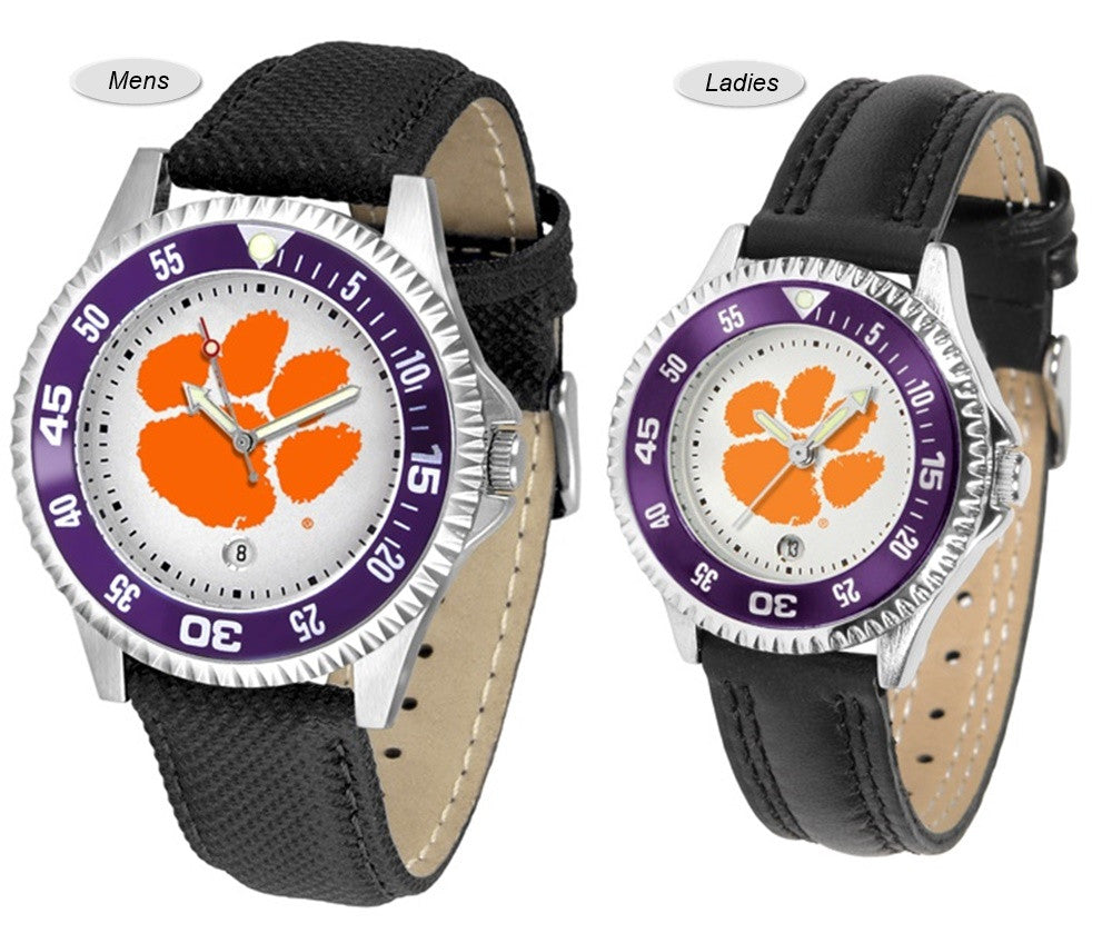 Clemson Tigers Competitor Sport Leather Watch