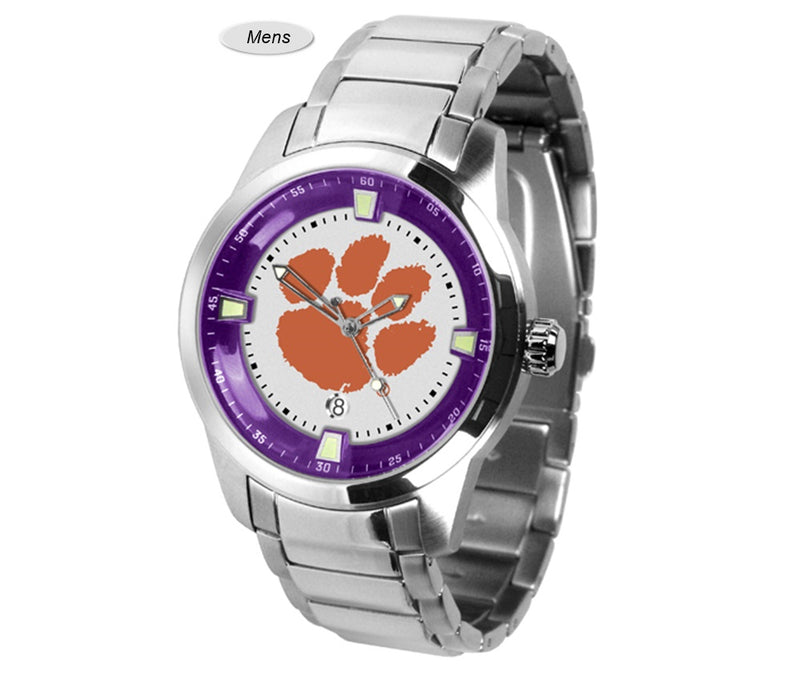Clemson Tigers Titan Steel Watch