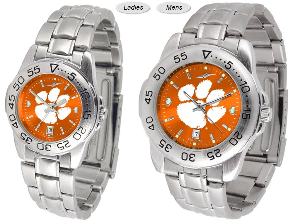 Clemson Tigers Sport Steel AnoChrome Watch