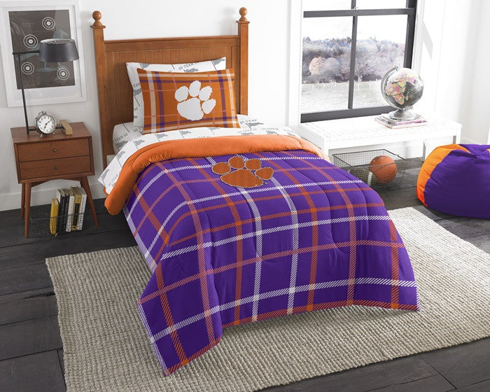 Clemson Tigers Twin Bed-in-a-Bag with Sheets