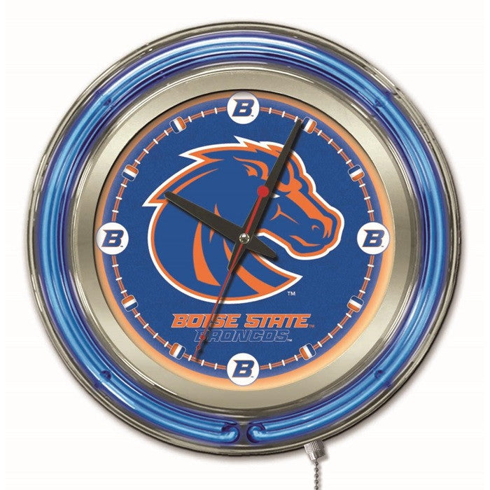 Boise State Broncos 15-Inch Neon Logo Clock - Sports Fans Plus