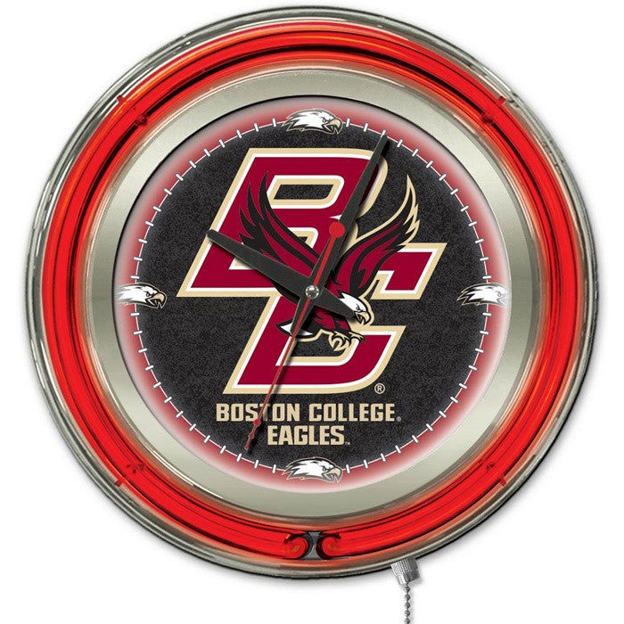 Boston College Eagles 15-Inch Neon Logo Clock