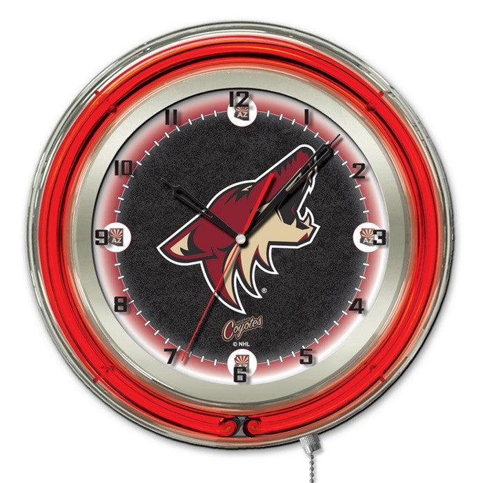 Arizona Coyotes NHL 19-Inch Neon Logo Clock - Sports Fans Plus