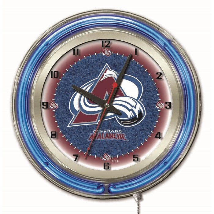 Colorado Avalanche NHL 19-Inch Neon Logo Clock - Sports Fans Plus