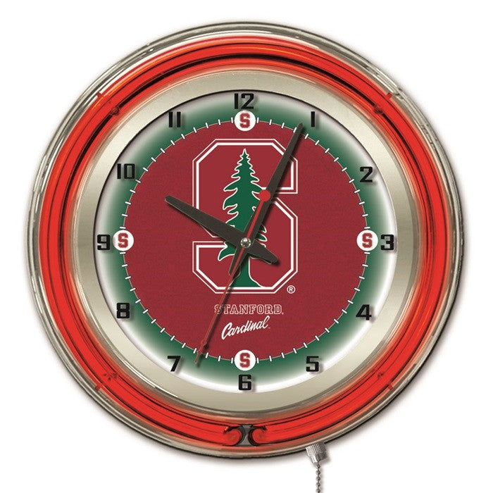 Stanford Cardinal 19-Inch Neon Logo Clock - Sports Fans Plus