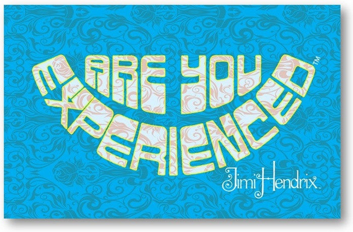Jimi Hendrix Are You Experienced Blue Design Printed Canvas