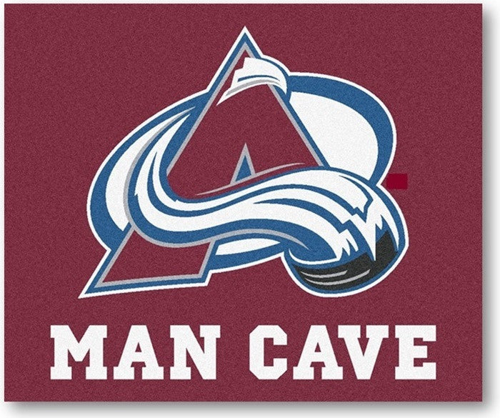 Colorado Avalanche NHL Man Cave Tailgate Rug - Sports Fans Plus
