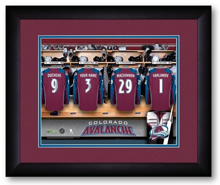 Colorado Avalanche NHL Personalized Locker Room Print - Sports Fans Plus  - 2
