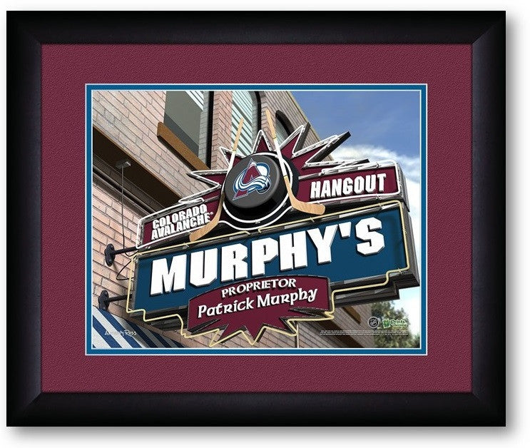 Colorado Avalanche NHL Personalized Pub Print - Sports Fans Plus  - 2