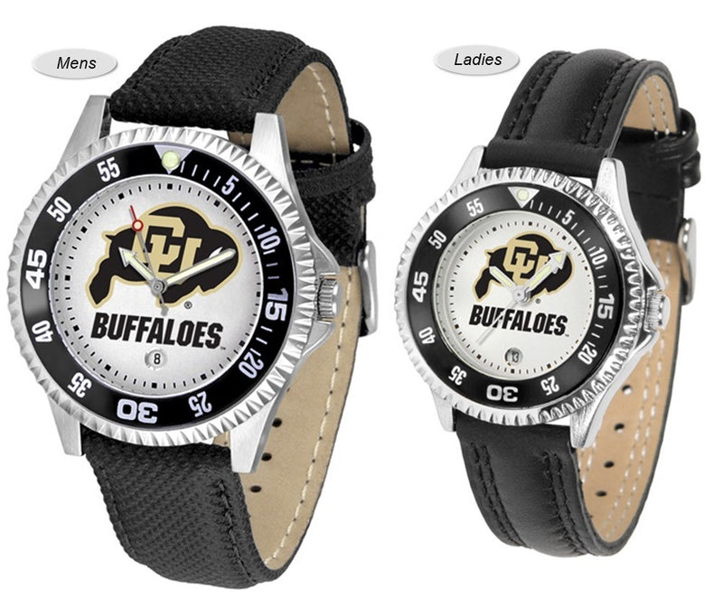 Colorado Buffaloes Competitor Sport Leather Watch