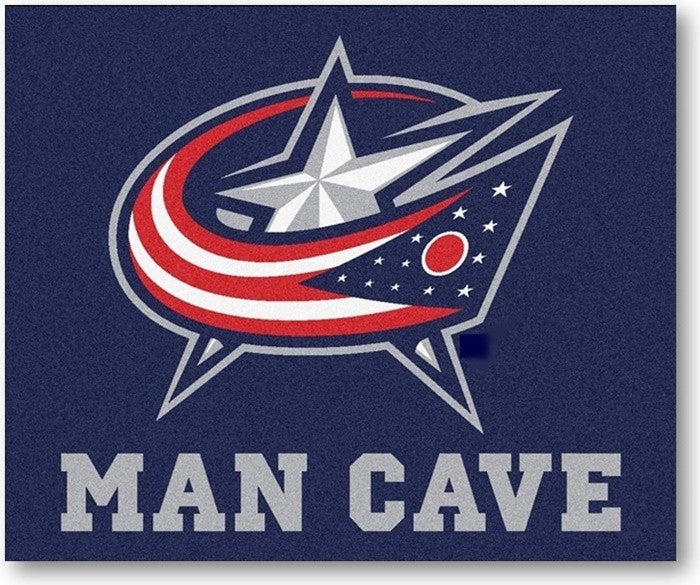Columbus Blue Jackets NHL Man Cave Tailgate Rug - Sports Fans Plus
