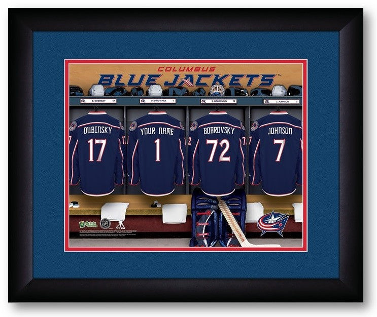 Columbus Blue Jackets NHL Personalized Locker Room Print - Sports Fans Plus  - 2
