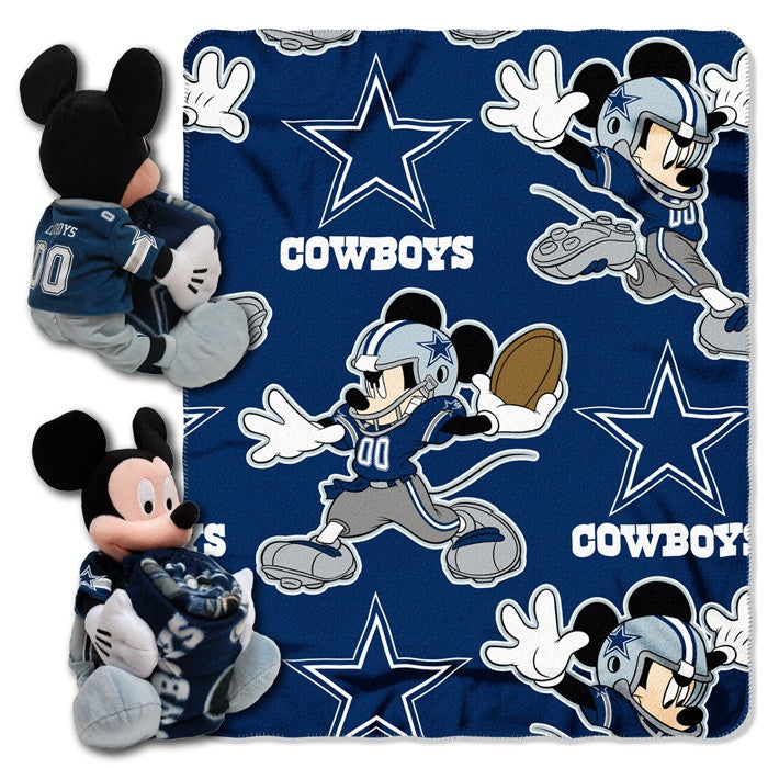 Dallas Cowboys NFL Mickey Mouse Hugger with Throw - Sports Fans Plus