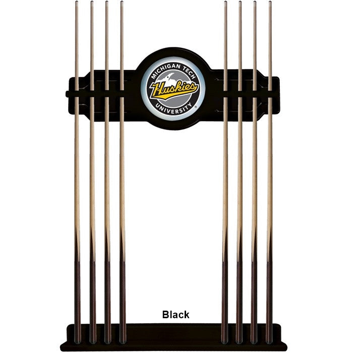 Michigan Tech Huskies Logo Cue Rack