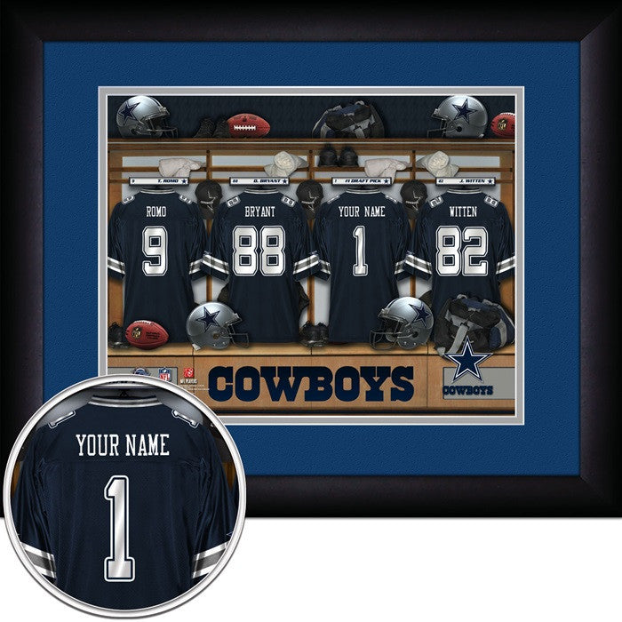 Dallas Cowboys NFL Personalized Locker Room Print - Sports Fans Plus  - 1