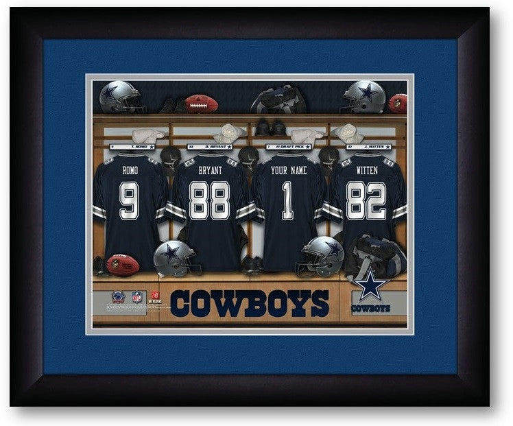 Dallas Cowboys NFL Personalized Locker Room Print - Sports Fans Plus  - 2