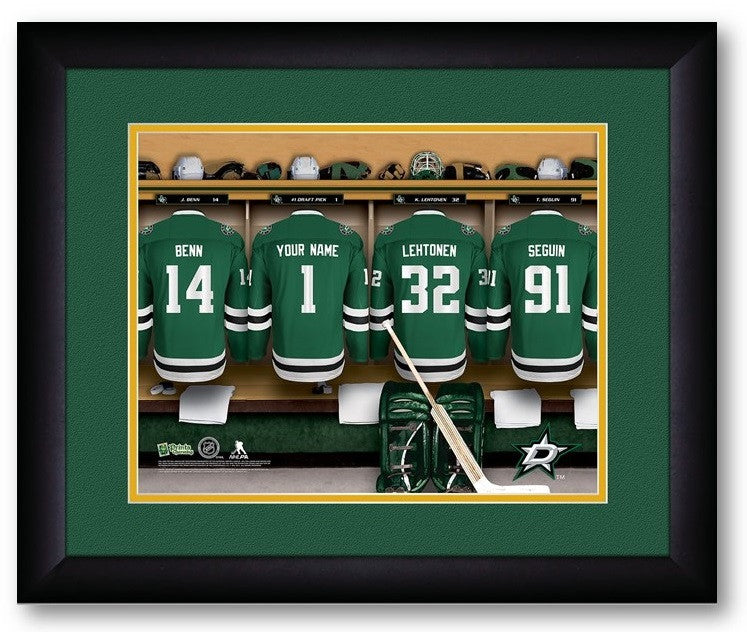 Dallas Stars NHL Personalized Locker Room Print - Sports Fans Plus  - 2