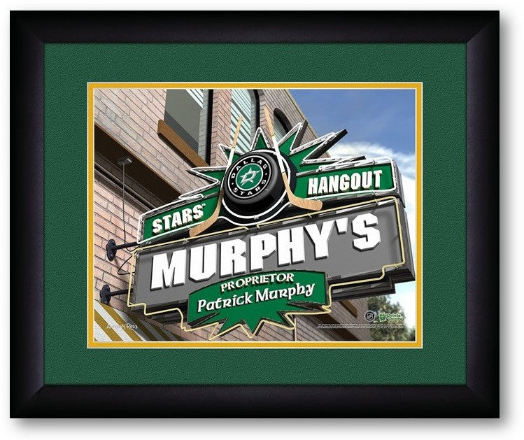 Dallas Stars NHL Personalized Pub Print - Sports Fans Plus  - 2