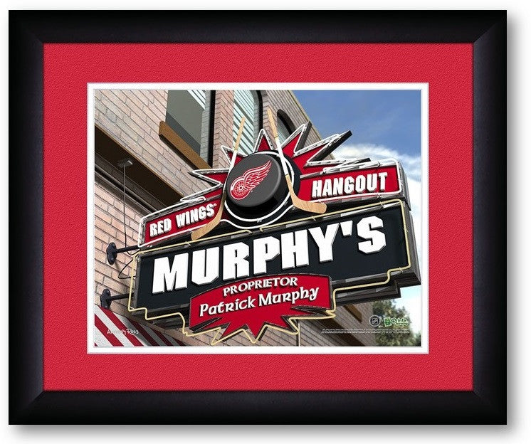 Detroit Red Wings NHL Personalized Pub Print - Sports Fans Plus  - 2