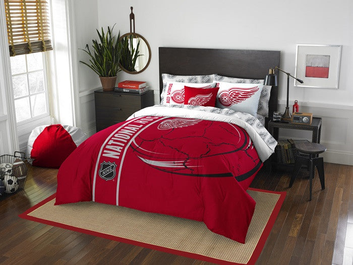 Detroit Red Wings NHL Full Bed-in-a-Bag with Sheets