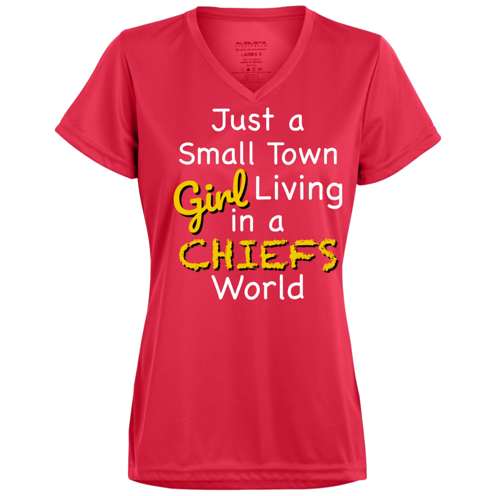 Ladies Small Town Red Chiefs Wicking T-Shirt
