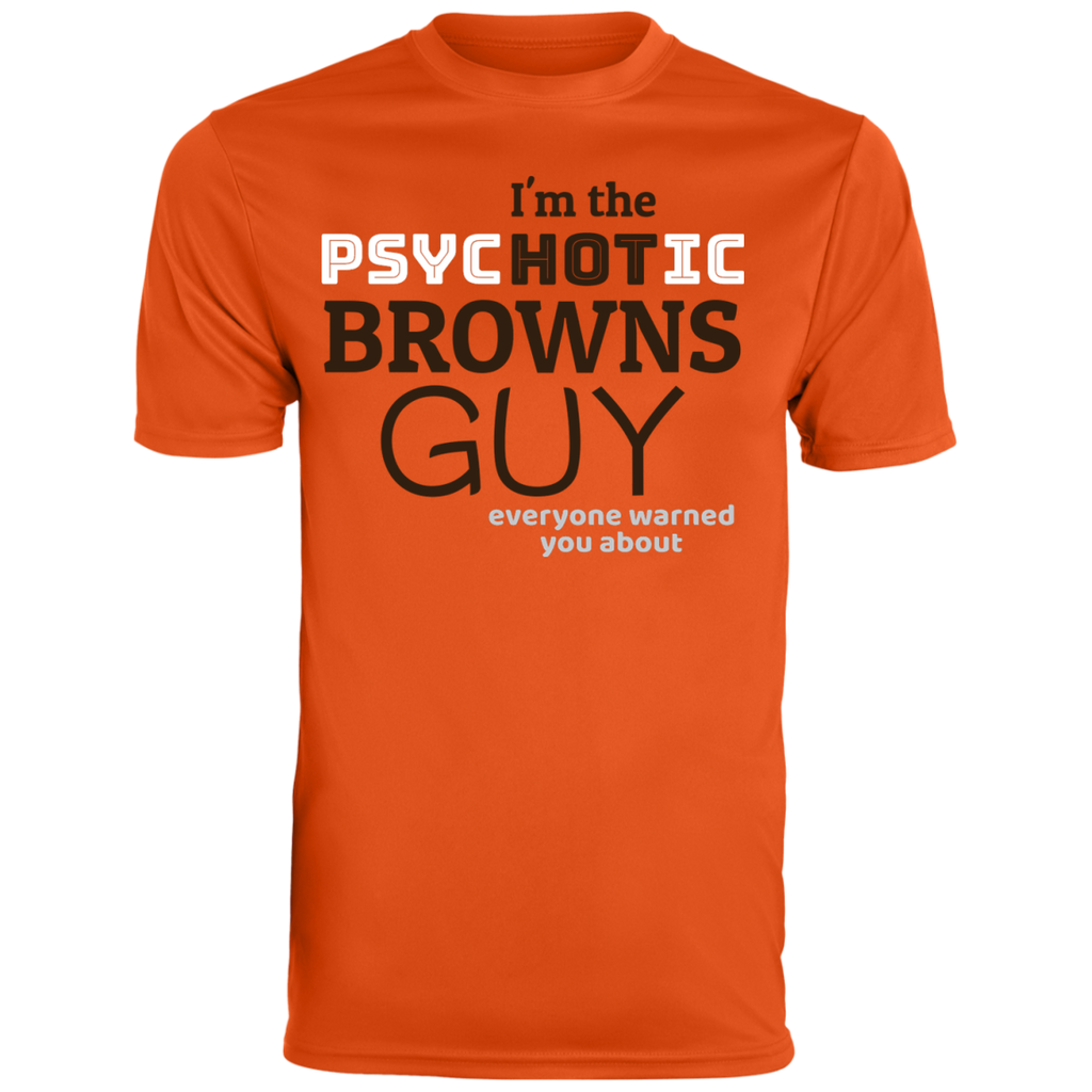 Mens Psychotic Orange Browns Wicking T-Shirt