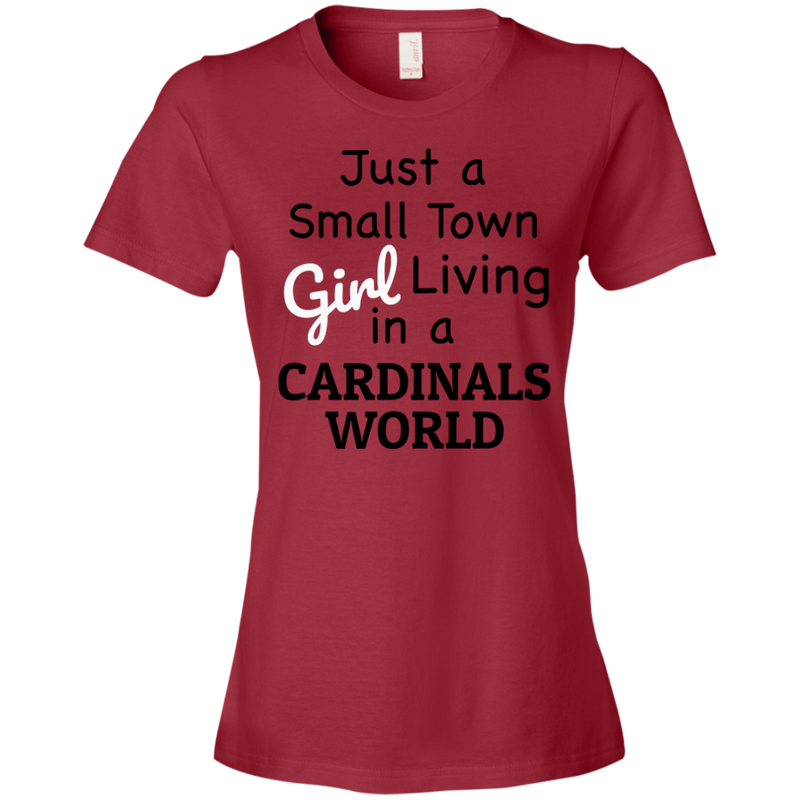 Ladies Cardinals Red Small Town T-Shirt-1