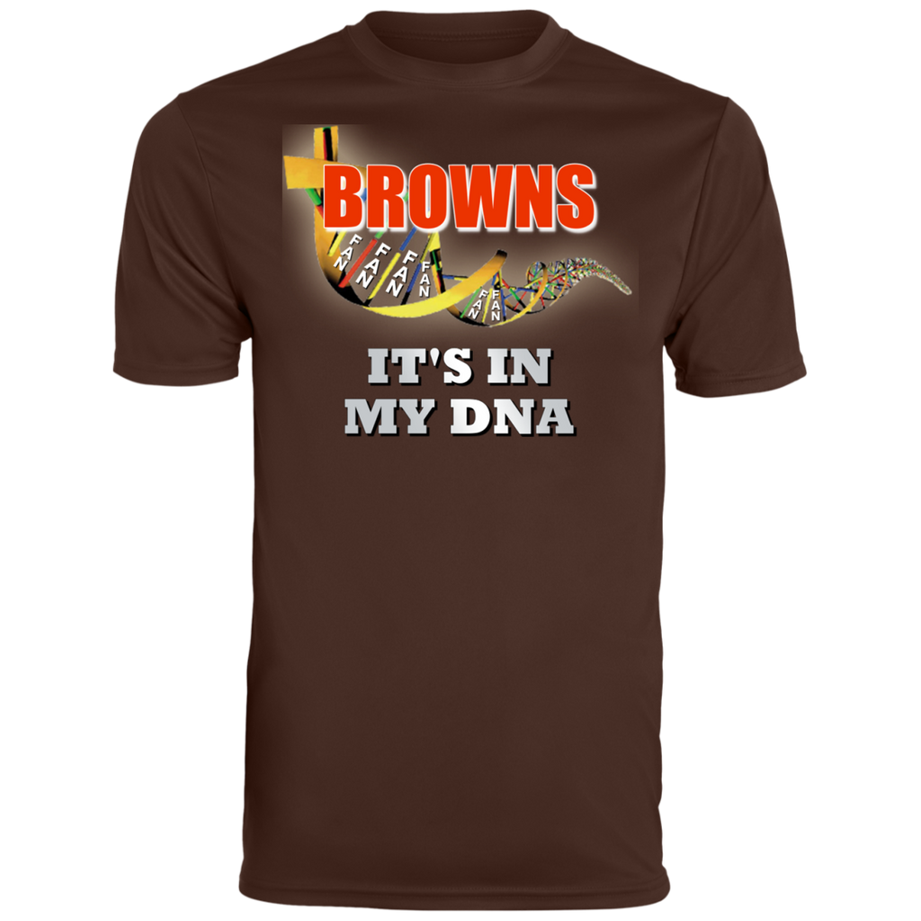Mens Brown DNA Browns Wicking T-Shirt