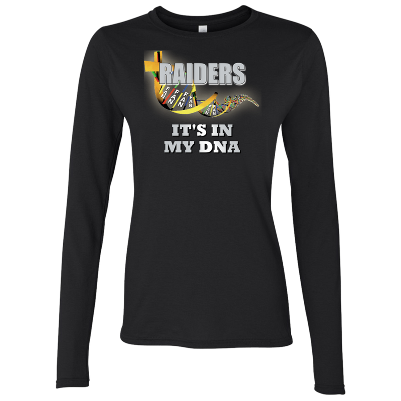Ladies DNA Black Raiders LS T-Shirt