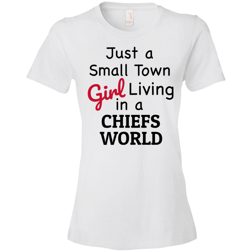 Ladies White Chiefs Small Town T-Shirt
