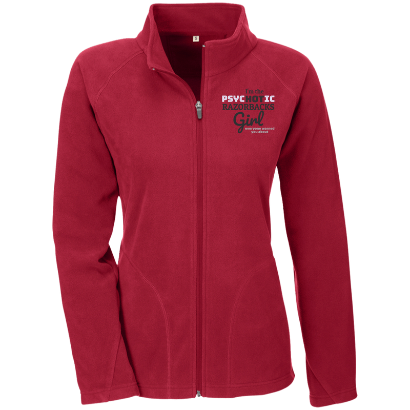Ladies Red Psychotic Razorbacks Microfleece Jacket