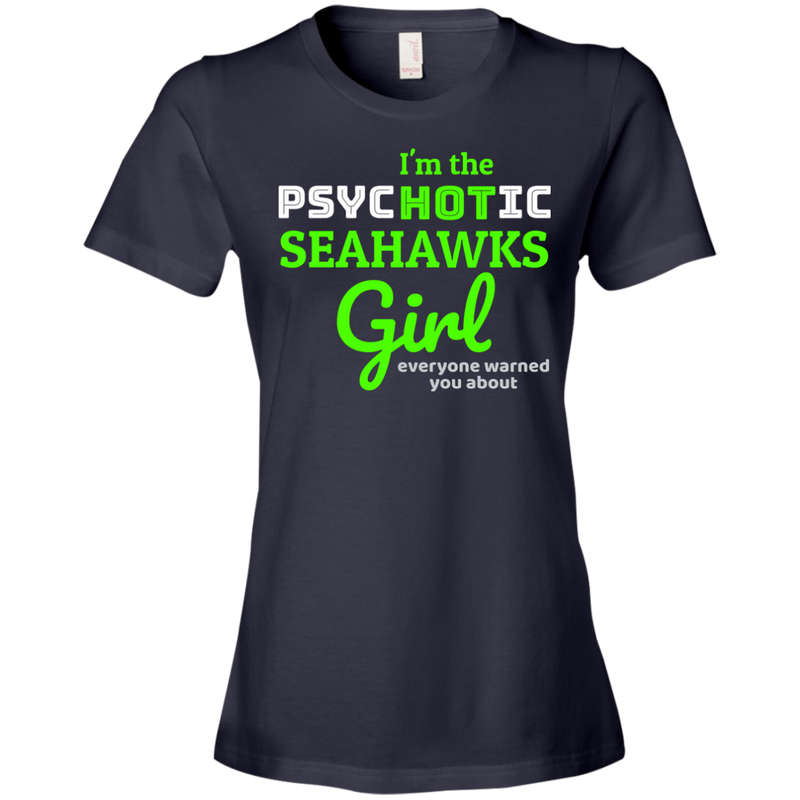 Ladies Psychotic Navy Seahawks T-Shirt