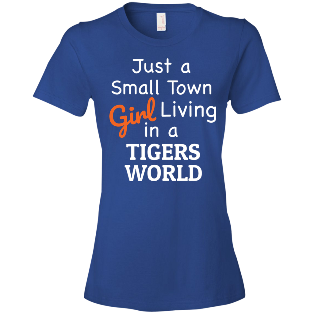 Ladies Small Town Blue Tigers T-Shirt