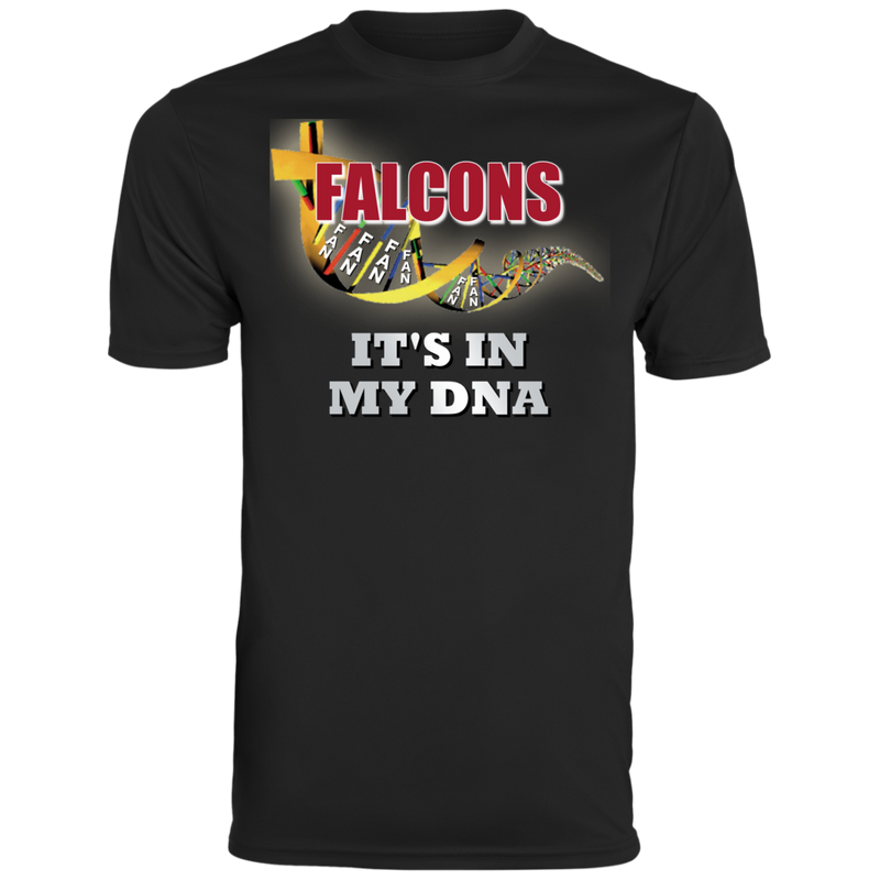 Mens Black Falcons DNA Wicking T-Shirt