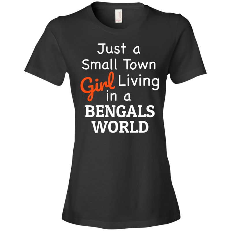 Ladies Black Bengals Small Town T-Shirt