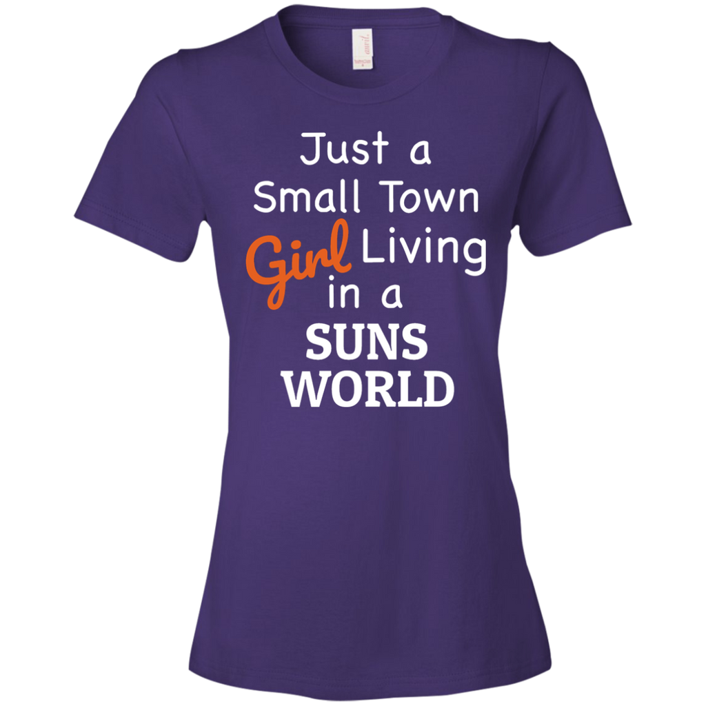 Ladies Purple Suns Small Town T-Shirt-1