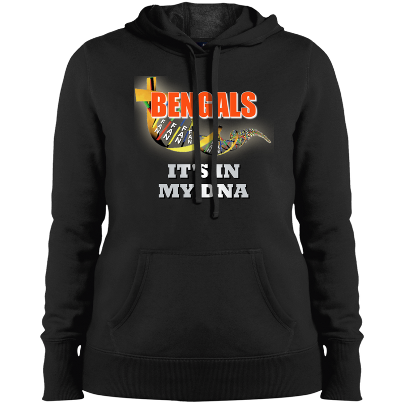 Ladies Black DNA Bengals Pullover Hooded Sweatshirt