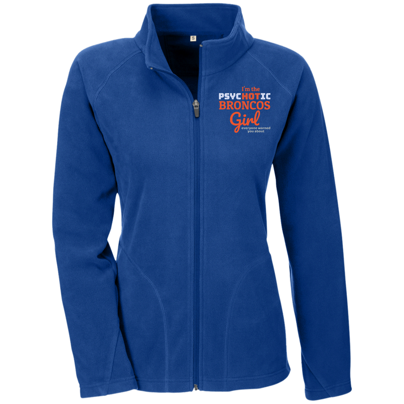 Ladies Psychotic Blue Broncos Microfleece Jacket